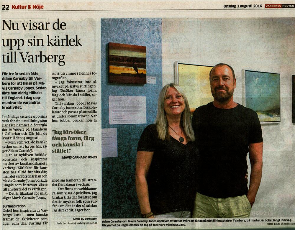 Adam Carnaby Konstutställning På Younghair Hår Salong